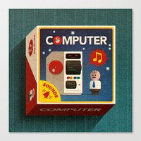 computer Canvas Prints featuring Computer by oneedo