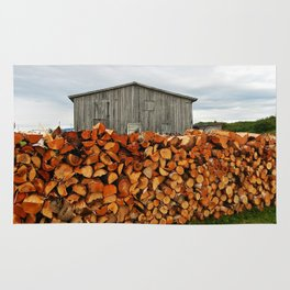 Barn and Firewood Rug
