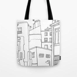 Paris Poetic Buildings Tote Bag