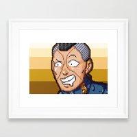 jjba Framed Art Prints featuring JJBA - Okuyasu Nijimura Pixel Art by Chooone