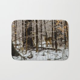 Deer in the Glistening Forest by Teresa Thompson Bath Mat