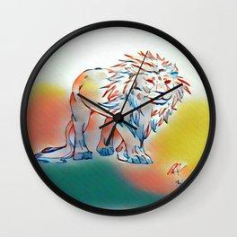 Lion of light Wall Clock