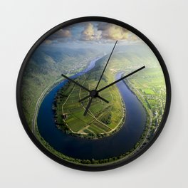 Incredible Mosel River Bend in Germany Wall Clock