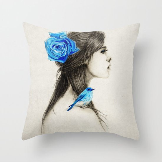 .Dejection Throw Pillow