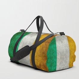 Republic of Ireland Flag, Vintage grungy Duffle Bag