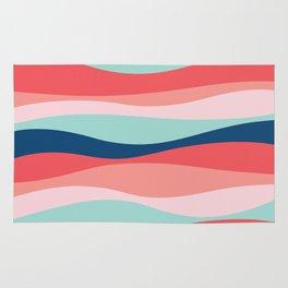 Good vibe wave pattern Rug