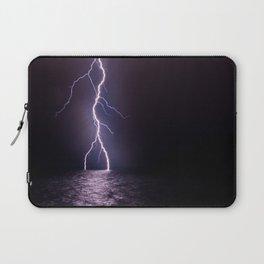 Lightning at Sea Laptop Sleeve