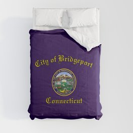flag of Bridgeport,connecticut Comforters