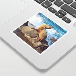SeaLion Mermaid Sticker