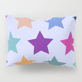 Colorful Stars Pillow Sham