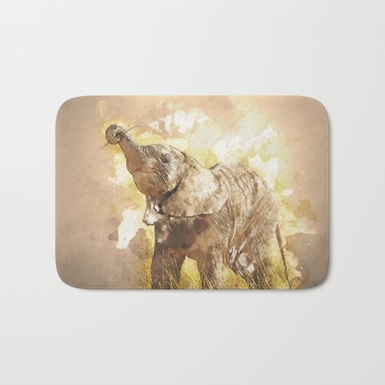 Elephant - It's Tea Time! Bath Mat
