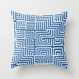 Stich Blue Throw Pillow