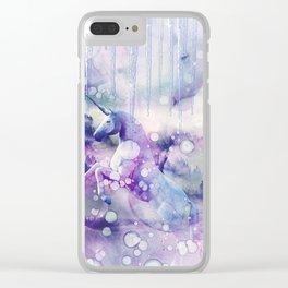 Unicorn dream b Clear iPhone Case