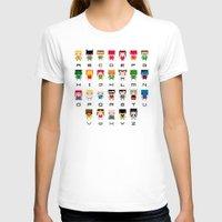 superhero T-shirts featuring Superhero Alphabet by PixelPower