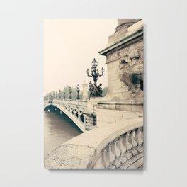 Paris, Pont Alexandre III Metal Print