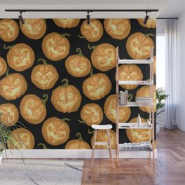 Halloween pumpkins Wall Mural