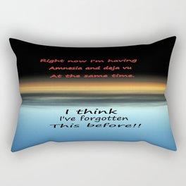 Amnesia Deja vu Rectangular Pillow