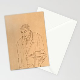 The Waiter Stationery Cards