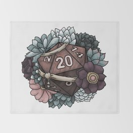 Monk Class D20 - Tabletop Gaming Dice Throw Blanket