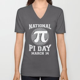 National Pi Day March 14th Math print Unisex V-Neck