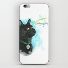 Black Cat-2 iPhone & iPod Skin