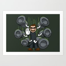 Bullet Time Bill Art Print