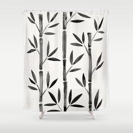 Black Bamboo Shower Curtain