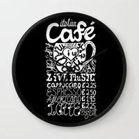 italian Wall Clocks featuring Italian Cafe by Geryes