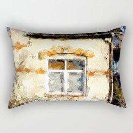 Haus mit Garten Rectangular Pillow