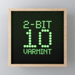 2-Bit Varmint / Binary vermin team code Framed Mini Art Print