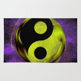 yin yang Ensō zen buddhism purple anise Rug