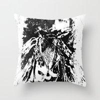 moth Throw Pillows featuring Moth by Shane R. Murphy