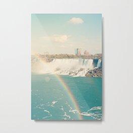 Niagara Falls - View of Buffalo, New York Metal Print
