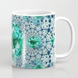 Emerald Gems May Birthstones Optical Pattern Coffee Mug