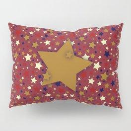 Gold Star Blue Pillow Sham