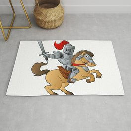 Knight on Horse Rug