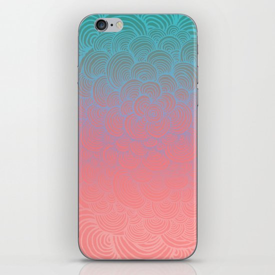 Ombre Clam Shells - Mint, Peach, Purple and Pink iPhone & iPod Skin