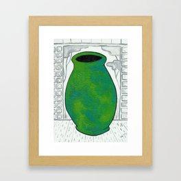 Jade Vase Framed Art Print