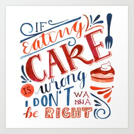 Cake Quote | Gilmore Girls Art Print