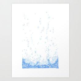 Floating Foam - a handmade pattern Art Print