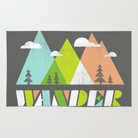 wander Area & Throw Rugs featuring Wander  by Jenny Tiffany