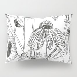 flower party black and white Pillow Sham