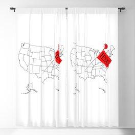 Knob Pin Texas Blackout Curtain