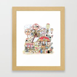 Amusement park Framed Art Print