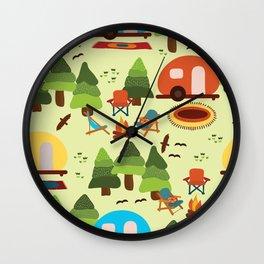 Caravan Campground Vacation Wall Clock