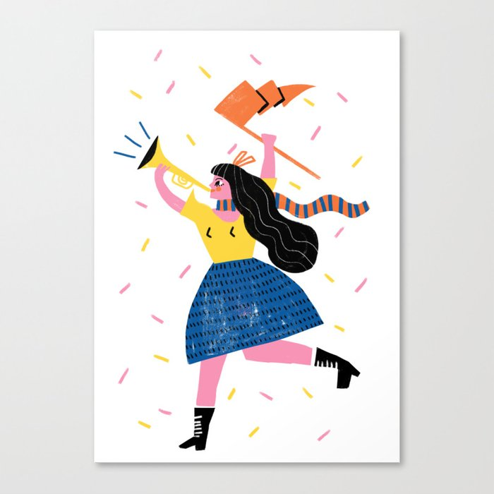 Your Own Personal Cheerleader Canvas Print