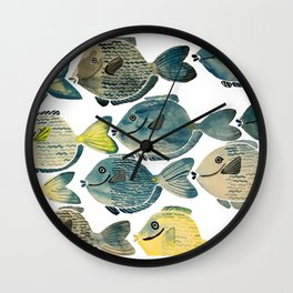 Blue Tang Wall Clock