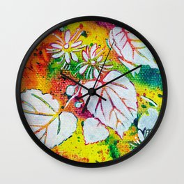 Leaves on the World Tree: Czechs Lípa ( Linden or Lime ) Wall Clock