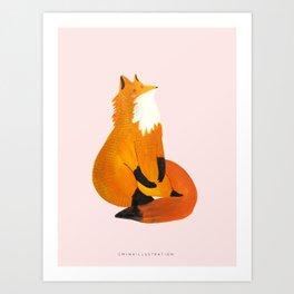 THE LETTER X for Fox Art Print