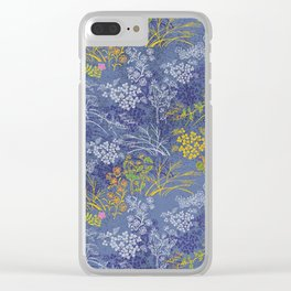 Vintage Japanese floral pattern Clear iPhone Case